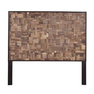 Iliff Natural Rustic Moza Queen Headboard