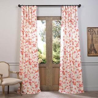 Exclusive Fabrics Dogwood Printed Cotton Curtain Panel