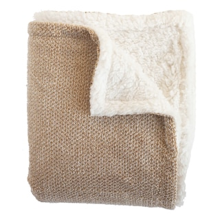 Shelley Waffle with Faux Shearling Throw