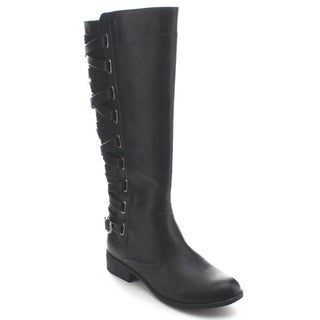 Betani Amber-7 Women's Side Zipper Buckle Motorcycle Riding Boots