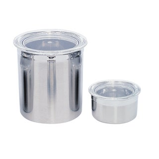 Studio Line 2-piece Stainless Steel Canister Set