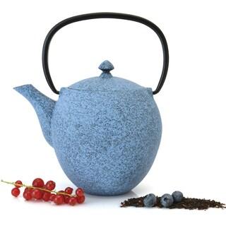 Studio 1.06-quart Blue Cast Iron Teapot