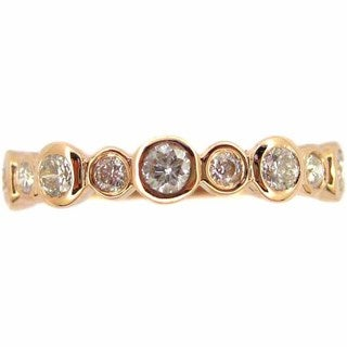 Kabella Luxe 14k Rose Gold 1/2ct TDW Diamond Stackable Ring (Size 6.5)