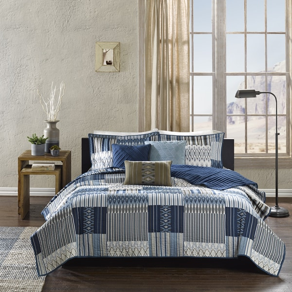 Madison Park Kinney 6-Piece Quilted Coverlet Set