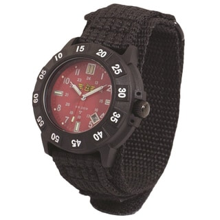 UZI Protector Tritium Watch with Red Face Nylon Strap