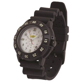UZI Protector Tritium Watch with White Face Rubber Strap
