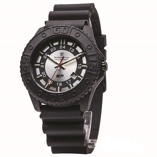 Smith and Wesson MandP Tritium Watch Silver Dial Rubber Band