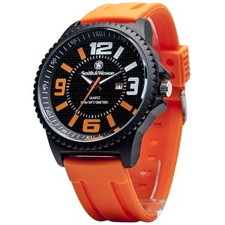 Smith and Wesson EGO Series Watch with Orange Silicon Strap