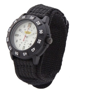 UZI Protector Tritium Watch with White Face Nylon Strap