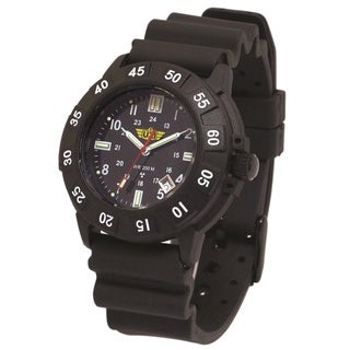 UZI Protector Tritium H3 Watch with Rubber Strap Black