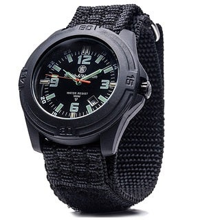 Smith and Wesson Soldier Swiss Tritium Black Nylon Strap Watch