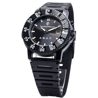 Smith and Wesson Men's SWAT Watch with Black Rubber Strap