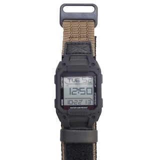 Humvee Men's Recon Watch Tan Nylon Strap Black Face