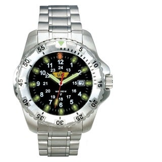 UZI Defender Tritium Watch with Silver Stainless Steel Strap
