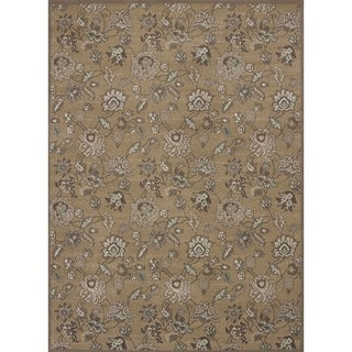 """Admire Home Living Plaza Floral Beige Area Rug (5'3 x 7'3) - 5'3"""" x 7'3"""""""