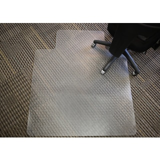 Mammoth Rectangular Chair Mat with Lip for Medium Pile Carpet (36x48)