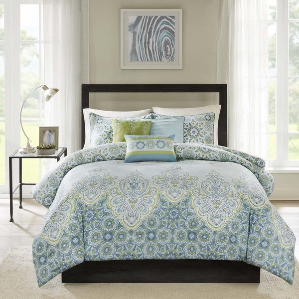 Madison Park Armelle 6-Piece Cotton Duvet Cover Set