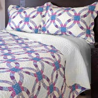 Windsor Home Wedding Ring 3-piece Quilt Set - Multi-color