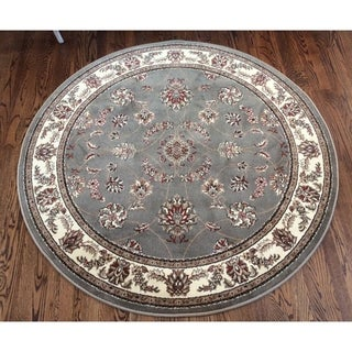 Admire Home Living Amalfi Floral Sage Area Rug (8' x 8')