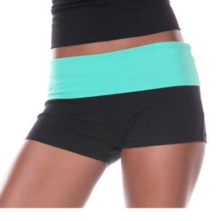 Link to White Mark Women's Yoga Fold Over Shorts Similar Items in Athletic Clothing