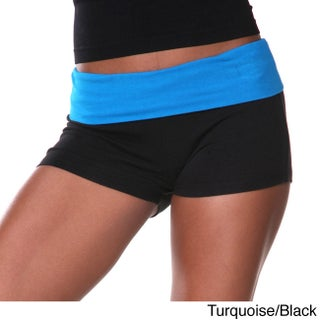 White Mark Women's Yoga Fold Over Shorts (More options available)