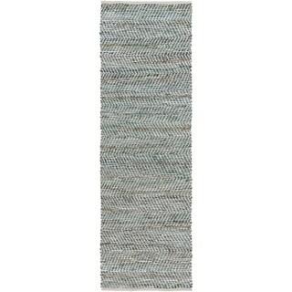 Hand-Woven Aylsham Stripe Indoor Jute Rug (2'6 x 8')