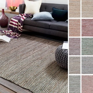 Hand-Woven Aylsham Stripe Indoor Jute Rug (2' x 3')