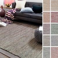 Hand-Woven Aylsham Stripe Indoor Jute Area Rug (2' x 3')
