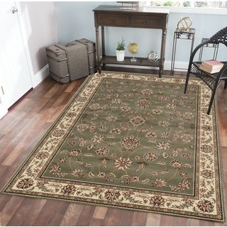 Admire Home Living Amalfi Floral Sage Area Rug (5'5 x 7'7) - 5'3
