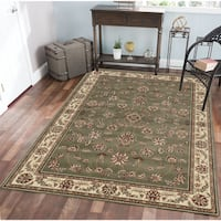 Admire Home Living Amalfi Floral Sage Area Rug (7'9 x 11')
