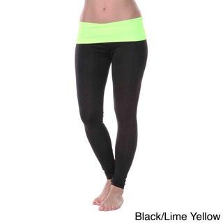 White Mark Women's Yoga Fold Over Leggings (3 options available)