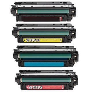 Compatible HP CF310A CF311A CF312A CF313A Black Cyan Magenta Yellow Toner Cartridge Color LaserJet M855DN (Pack of 4)