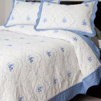 Windsor Home Mackenzie Embroidered 3-piece Quilt Set