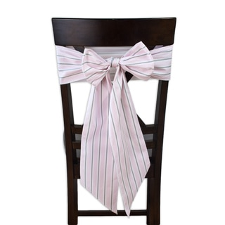 Trey Bella Chair Tie with Tapered Ends and Serged Edges (Set of 2)