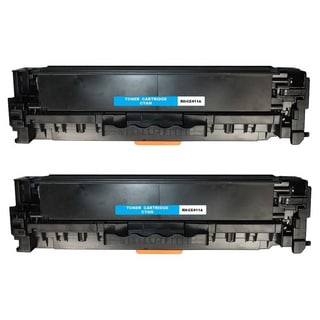 Compatible HP CE411A Cyan Toner Cartridge LaserJet Pro 300 color MFP M375nw LaserJet Pro 400 color M451dn (Pack of 2)
