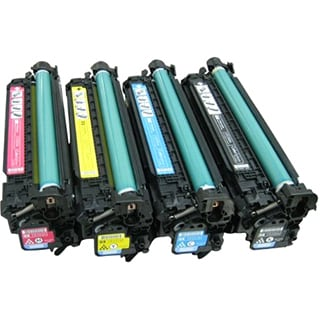 Compatible HP CE340A CE341A CE342A CE343A Black Cyan Magenta Yellow Toner Cartridge MFP M775dn MFP M775 f MFP M775z (Pack of 4)