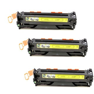 Compatible HP CE322A Yellow Toner Cartridge CM1415fn/CM1415fnw (Pack of 3)
