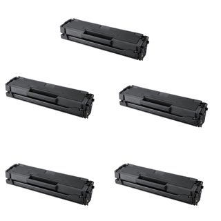 Samsung MLT-D101S Black Compatible Laser Toner Cartridge ML-2165 ML-2165W SCX-3405 SCX-3405FW SF-760P (Pack of 5)