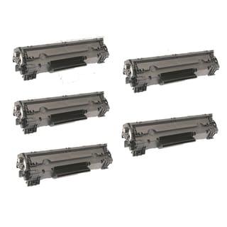 HP Compatible CF283X Black Toner Cartridges (Pack of 5)