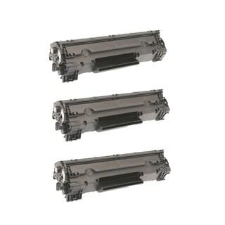 HP Compatible CF283X Black Toner Cartridges (Pack of 3)