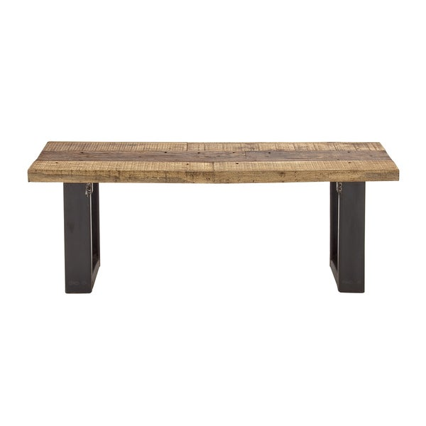 Backless Wood Metal Bench Free Shipping Today Overstock Com 17492416