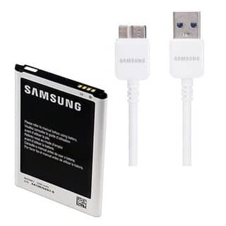 3200mAh Replacement Battery and 5-foot USB 3.0 Charge Cable for Samsung Galaxy Note 3|https://ak1.ostkcdn.com/images/products/10388519/P17492417.jpg?impolicy=medium