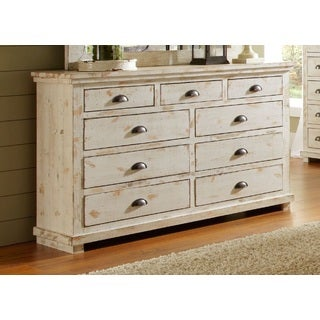 Willow Distressed White Drawer Dresser