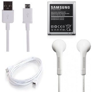 2600mAh Battery/ 5-foot Data Cable/ Earphone Kit for Samsung Galaxy S4