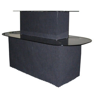 Dainolite 2-tier Black Glass and Graphite Display Table