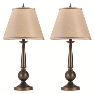 Alphvale Traditional Bronze Table Lamp with Shade (Set of 2)