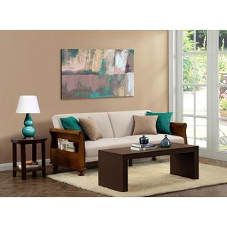 DHP Frisco Honey Wood Sofa Sleeper
