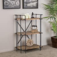 Yorktown 3-Shelf Industrial Bookcase by Christopher Knight Home