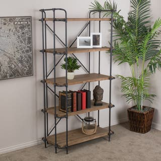 Yorktown 5-Shelf Industrial Etagere Bookcase by Christopher Knight Home|https://ak1.ostkcdn.com/images/products/10389377/P17493130.jpg?impolicy=medium