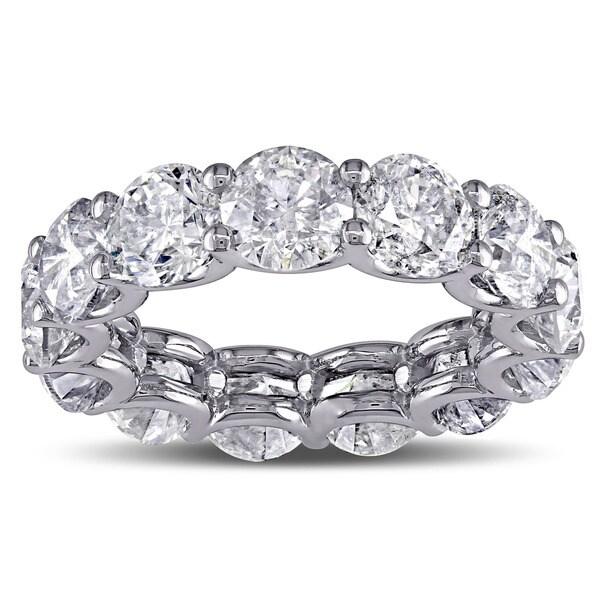 Miadora Signature Collection 19k White Gold 9 1/4ct TDW Diamond Eternity Ring